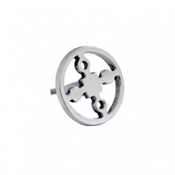 Hilke Collection - Knob, Nickel plated brass 'Anima Gemella'