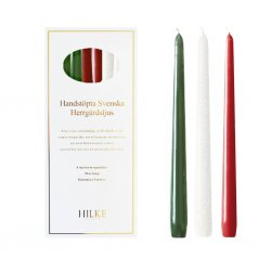 Hilke Collection - Mansion Candles 6pcs, Mix Christmas