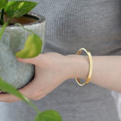 Bracelet in brass hilke collection