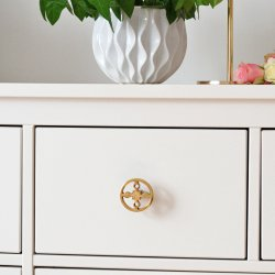 HILKE COLLECTION -  Anima Gemella knob in 100% brass