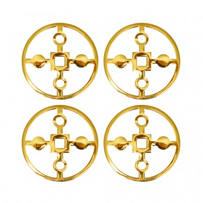 Hilke Collection Anima Gemella Coasters Brass