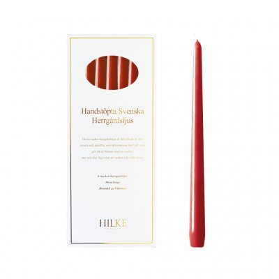 Hilke Collection - Mansion Candles 6pcs, Red Gloss